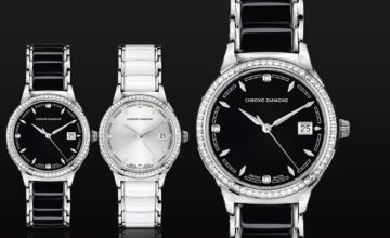 From £179 instead of £1,289.63 (from Rotatio) for a ladies' Chrono Diamond, Swiss-made 'Thyrsa' watch - choose from six designs and save up to 86% + DELIVERY IS INCLUDED