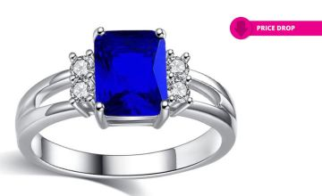 £7.99 instead of £49.95 for a blue created sapphire ring from GameChanger Associates - save 84%