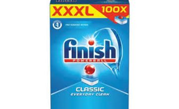 From £9.99 for a Finish XXXL 100 & 200 (£17.99) classic dish washer tabs from Global Merchant Support  - save up to 50%