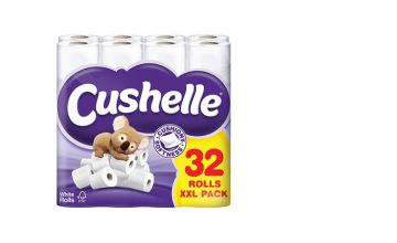 From £14.99 for a 32 pack or 64 pack (£28.99) of Cushelle toilet rolls from Global Merchant Support  - save up to 50%