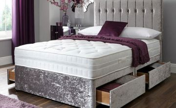 From £99 instead of £399.99 (from FTA Furnishing) for a crushed velvet divan bed - choose from two colours, two or four drawers and save up to 75%