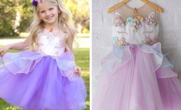 £12 instead of £65.99 (from Blu Fish) for a children's unicorn party dress – choose from three colours and save 82%