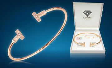 £29 instead of £149 (from Taylors) for a rose gold 0.018ct diamond bangle - save 81%