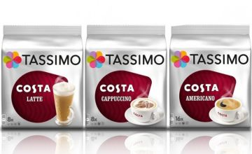 £14 (from Euro Coffee Pods) for a variety pack of 48 Tassimo Costa T-Discs