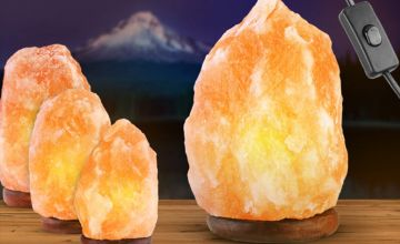 From £9.99 instead of £36 (from Fusion Online) for a Himalayan salt lamp - choose from five sizes and save up to 72%