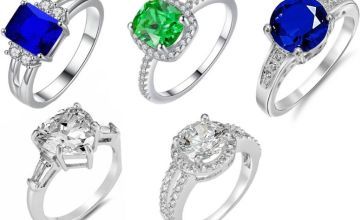 From £7.99 for a brilliant cut crystal ring - choose from five designs from GameChanger Associates - save up to 84%