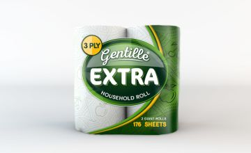 From £10.99 for a 12 or 24 (£19.99) extra large 3-ply kitchen roll from Global Merchant Support  - save up to 45%