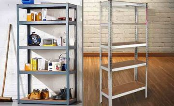 £16 instead of £79.83 (from Who Needs Shops) for a five-tier heavy duty racking unit - save a sturdy 80%