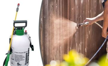 £6.99 instead of £29.99 for a 5L high-pressure fence and weed sprayer from Direct2Public - save 77%