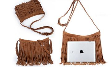 £9.99 instead of £49.99 (from Blu Fish) for a suede tassel handbag - choose from six colours and save 80%