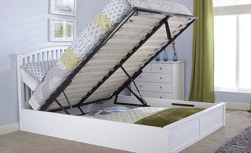 From £249 for a double ottoman bed with headboard, £279 for a king, £349 for a double with mattress, or £389 for a king with mattress