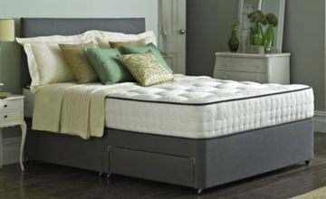 From £109 instead of £469.01 (from The Bed Outlet) for a fabric divan bed with memory mattress - upgrade to include two or four drawers and choose from two colours, saving up to 77%