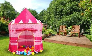 £8.99 instead of £29.99 (from Fusion Online) for a kids' play tent - choose princess castle or wizard designs and save 70%