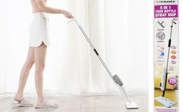 £11.99 instead of £39.99 for a 5-in-1 twin bottle spray mop from Direct2Public Ltd - save 70%