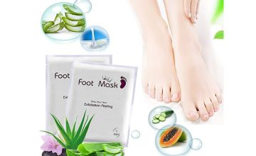 £1 instead of £19.99 for one pair of exfoliating & peeling foot masks from Impress Gadgets - save 95%