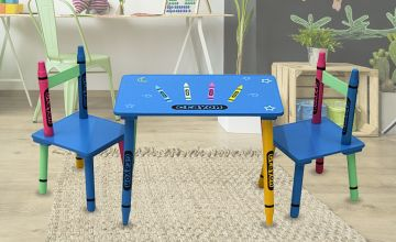 £24 instead of £73.30 (from Who Needs Shops) for a children's wooden crayon table and chairs set – save 67%