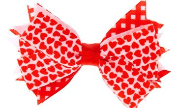 Go to Product: Hearts Ribbon Hair Bow Clip - Red
