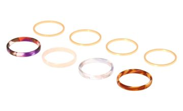 Go to Product: Tortoiseshell Rings - 8 Pack