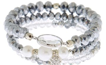 Go to Product: Beaded Stretch Bracelets - Grey, 3 Pack