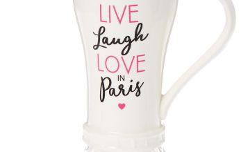 Go to Product: Love Paris Eiffel Tower Ceramic Mug - White