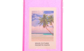 Go to Product: Pink Glitter Instax Mini Pocket Clear Protective Phone Case - Fits iPhone 6/7/8 Plus