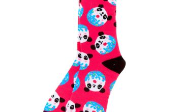 Go to Product: Pandonut Crew Socks - Pink