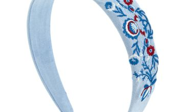 Go to Product: Baby Blue Flower Patch Headband