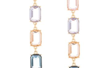 "Go to Product: 3"" Pastel Shine Linear Drop Earrings"