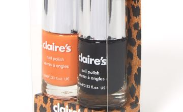 Go to Product: Solid Nail Polish Set - Black/Orange, 2 Pack