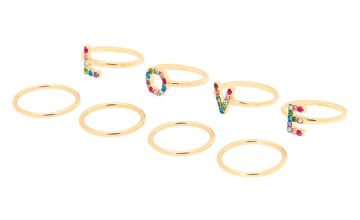 Go to Product: Gold Rainbow Love Ring Set - 8 Pack