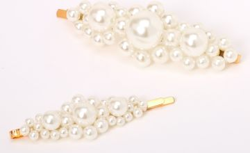 Go to Product: Chunky Pearl Hair Pins - Ivory, 2 Pack