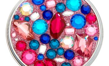Go to Product: Jeweled Compact Mirror - Pink