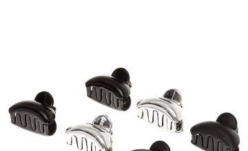 Go to Product: Metallic Mini Claw Clips - Black, 6 Pack