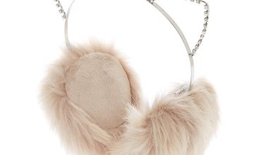 Go to Product: Crystal Embellished Cat Ear Muffs - Grey