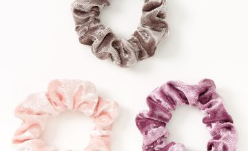 Go to Product: Claire's Club Small Velvet Dusty Purples Hair Scrunchies - 3 Pack
