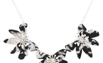 Go to Product: Black & White Resin Flower Statement Necklace