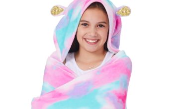 Go to Product: Unicorn Hooded Blanket - Pink