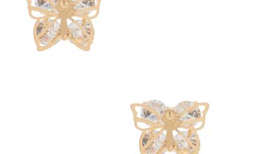 Go to Product: Gold Cubic Zirconia Butterfly Stud Earrings