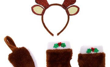 Go to Product: Reindeer Costume Kit - Brown, 3 Pack
