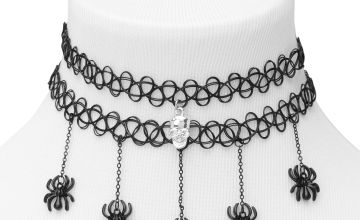 Go to Product: Skull Spider Tattoo Choker Necklaces - Black, 2 Pack
