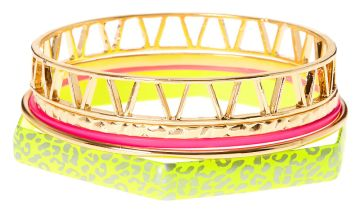 Go to Product: Gold & Neon Leopard Bangle Bracelets - 5 Pack