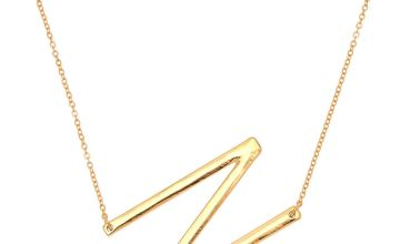 Go to Product: Oversized Initial Pendant Necklace - N