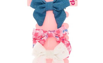 Go to Product: Claire's Club Bow Hair Clips - 3 Pack