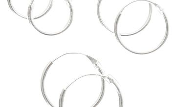 Go to Product: Sterling Silver Smooth Hoop Earrings - 3 Pack