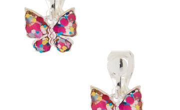 Go to Product: Glitter Butterfly Clip On Drop Earrings
