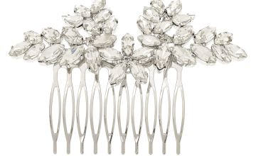 Go to Product: Vintage Glass Stone Leaf Hair Comb