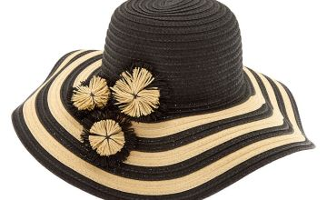Go to Product: Striped Floppy Hat - Black