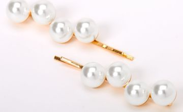 Go to Product: Gold Large Pearl Hair Pins - Ivory, 2 Pack
