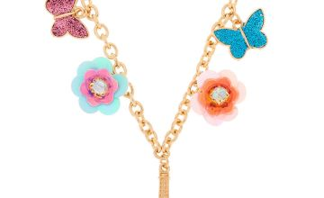 Go to Product: Gold Sequin Flower Paris Statement Necklace