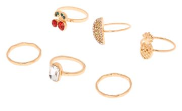 Go to Product: Gold Fruity Rings - 6 Pack